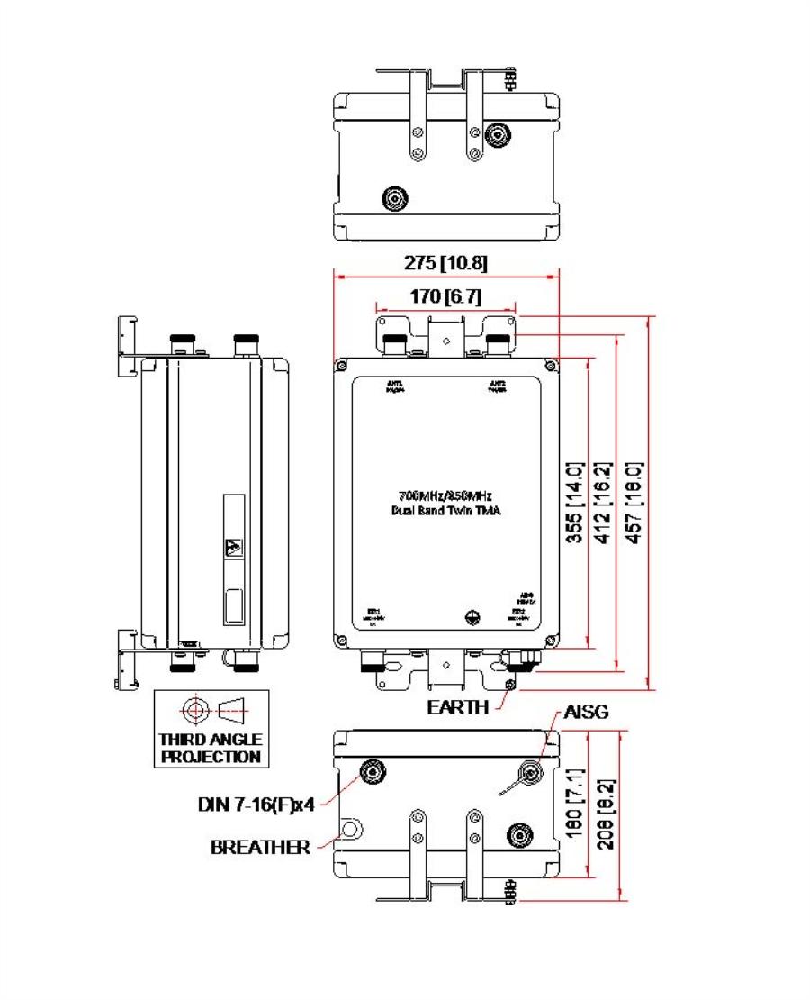 Kaelus TMA2105F01V1-1   TWIN TMA 700/850   Kaelus